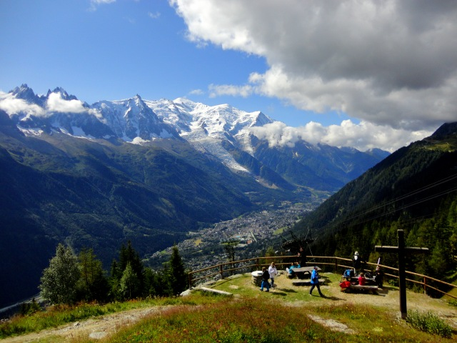jump on the La Flégère cable car to get an awesome view of Mont Blanc and the Chamonix valley.