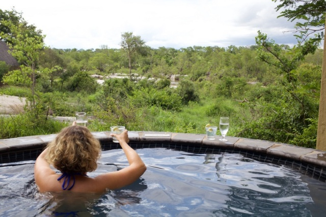 G&T's in our plunge pool while looking out for elephants and hippos. Really? Is this life?